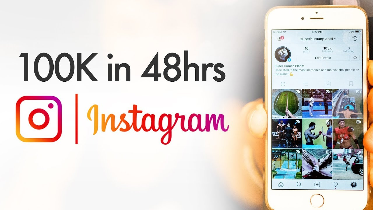 Grow followers on Instagram